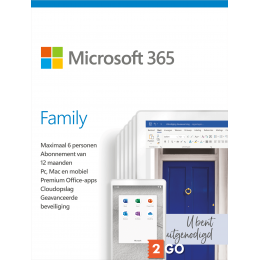 Office: Microsoft 365 Family - 6 users 1 year